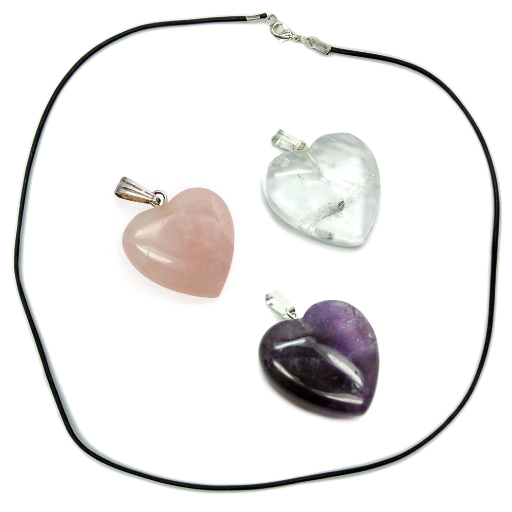 Necklace and Heart Pendant Bundle